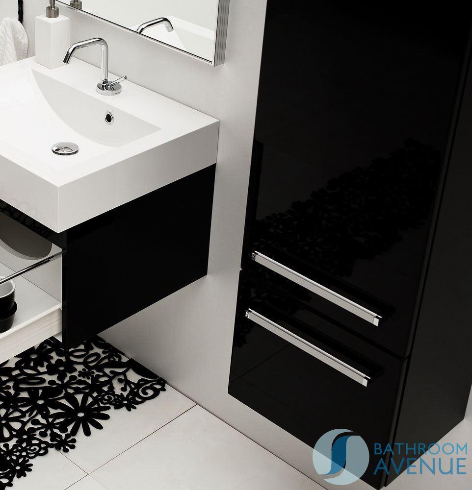 storage cabinet modern tall bathroom storage unit black francesca