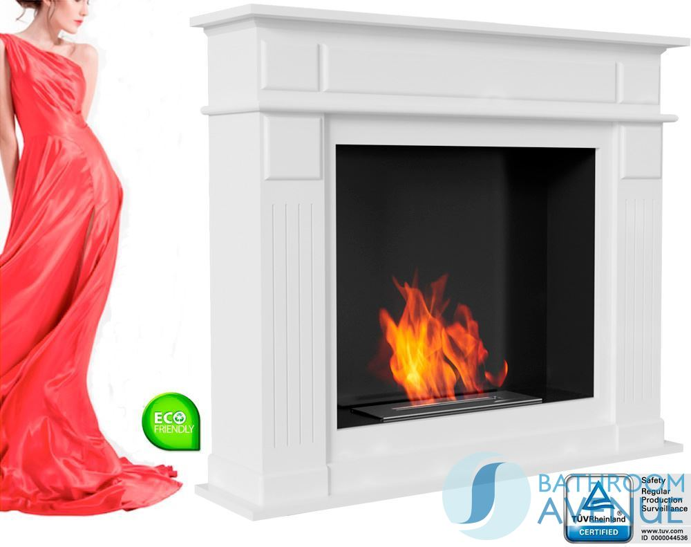 traditional bioethanol fireplace with bio container classic
