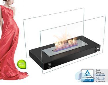 Portable freestanding bioethanol fireplace large