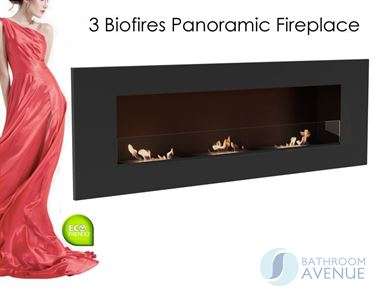 3 Biofires Panoramic Fireplace