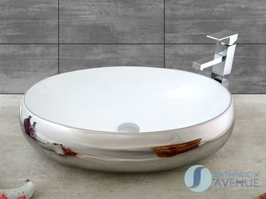 Silver Counter Top Basin Silver Simona