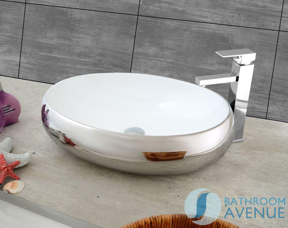Modern Contemporary Basin Silver Simone