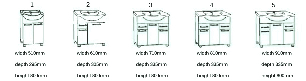 Variants of Vanity Unit Marea