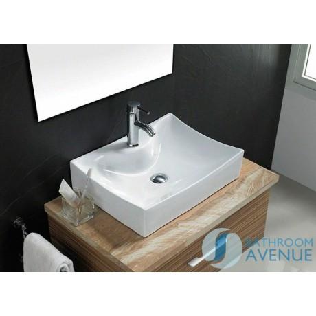 Modern Rectangular Counter Top Wash Basin Rectangular Wall Mounted