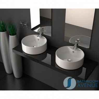 Round Counter Top Basin With Tap Hole Loretta