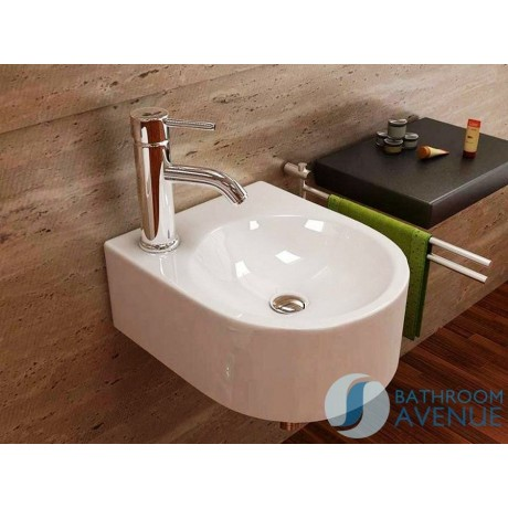 Small Modern Counter Top Wash Basin Mattea Compact Wall Mounted