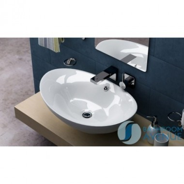 Modern oval counter top wash basin Giovanna