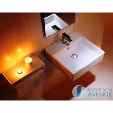 Small Square Wash Basin with Tap Hole Eva
