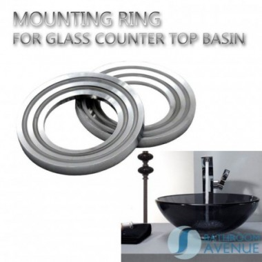 MOUNTING RING FOR GLASS COUNTER TOP BASIN