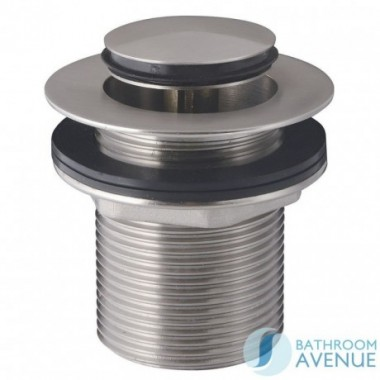 CLICK CLACK WASTE ROUND BRUSHED NICKEL UNSLOTTED