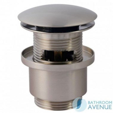 CLICK CLACK WASTE ROUND BRUSHED NICKEL SLOTTED
