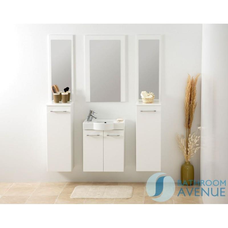 Small Bathroom Cloakroom Vanity Unit White Marea