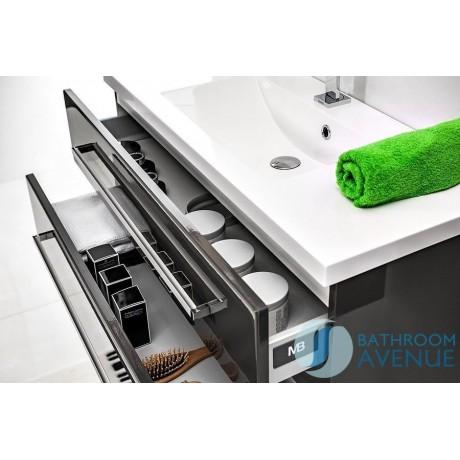 Grey wall mounted bathroom cabinet with sink Giuseppine