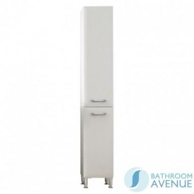 Bathroom Laundry Hamper Cabinet Tall Gloss White Bibiana