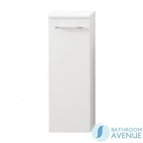 Small Bathroom & Cloakroom Cabinet Gloss White Marea