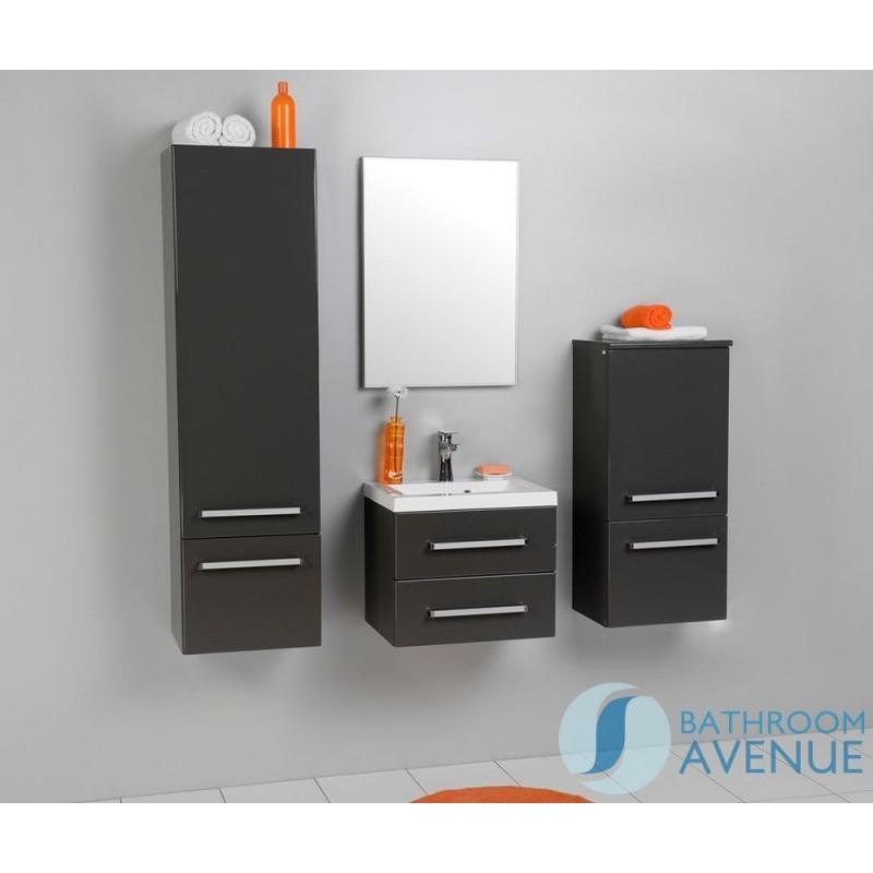 Grey Bathroom Wall Hung Tall Cabinet Giuseppine