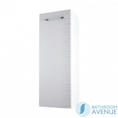 Wall Mounted Side Storage Cabinet White & Silver Stripes Tramonto