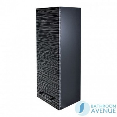 Wall Hung Small Cabinet Black & Silver Stripes Tramonto