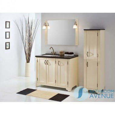 Freestanding Bathroom Tall Cabinet Magnolia Vittoria