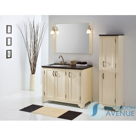 Freestanding Bathroom Tall Cabinet Magnolia Vittoria