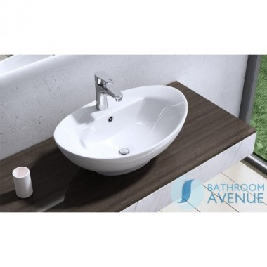 Contemporary Counter Top Wash Basin Oval Domenica