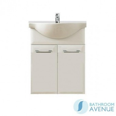 Contemporary modern vanity basin unit gloss white Bibiana