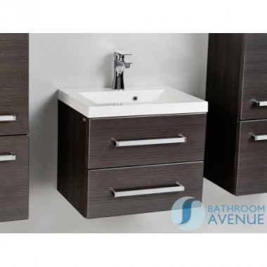 Contemporary 2 drawers vanity unit graphite Giuseppine
