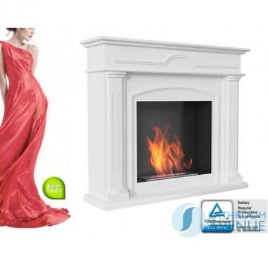 Traditional freestanding bioethanol fireplace DEC