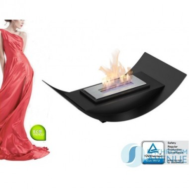 Freestanding portable bioethanol fireplace large
