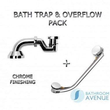 Bath Waste Overflow and Trap Pack Chrome