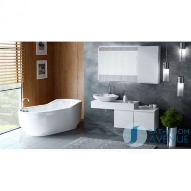 Countertop floating shelf & wash basin Federico
