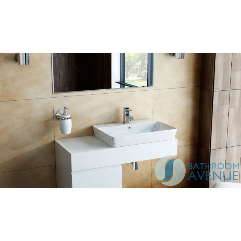 Wall mounted countertop basin shelf with ceramic basin ...