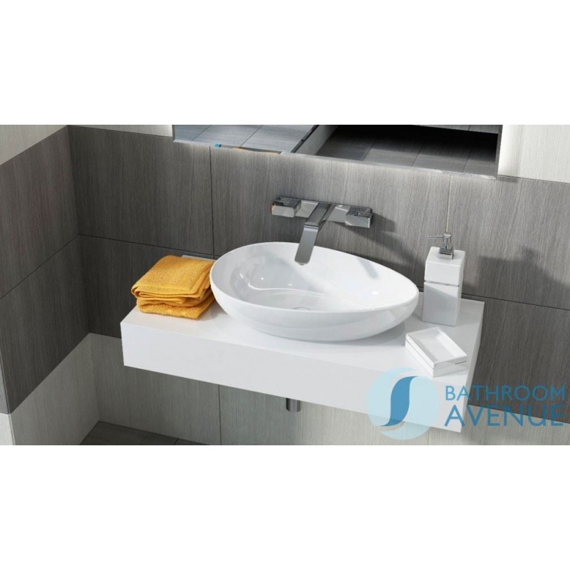 Wall Mounted Countertop Basin Shelf With Ceramic Basin