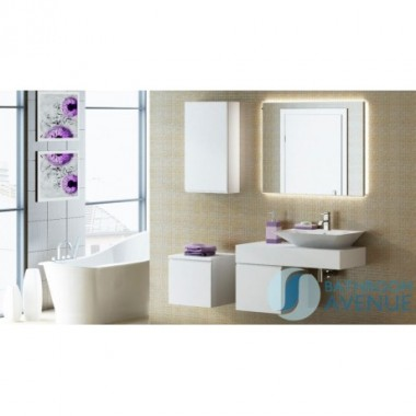 White compact wall hung cabinet Federico