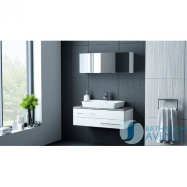 White vanity unit & counter top basin Arcelia
