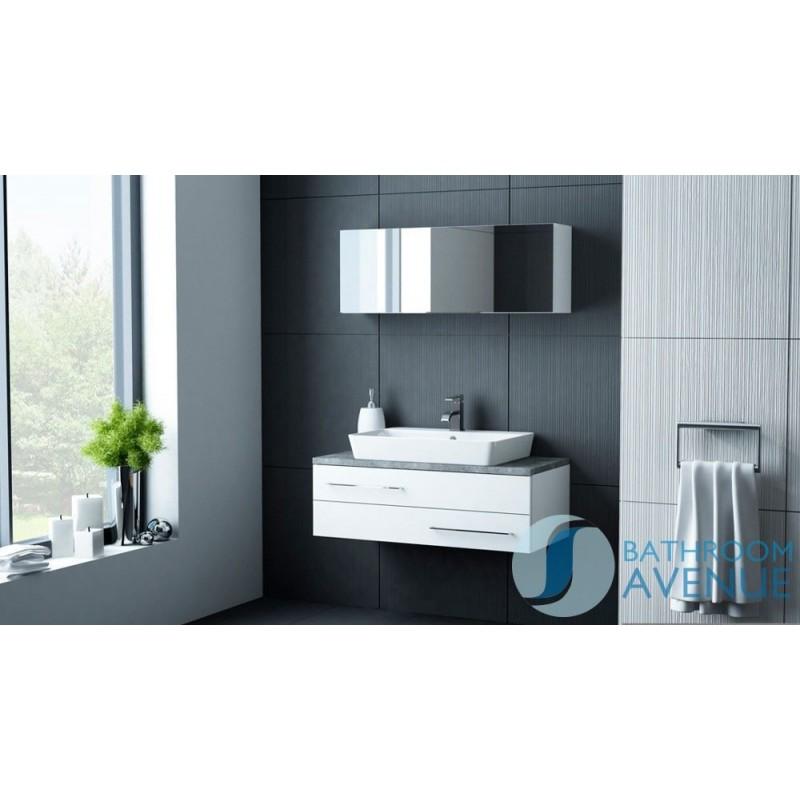 Modern Vanity Unit White Amp Counter Top Basin White Sink