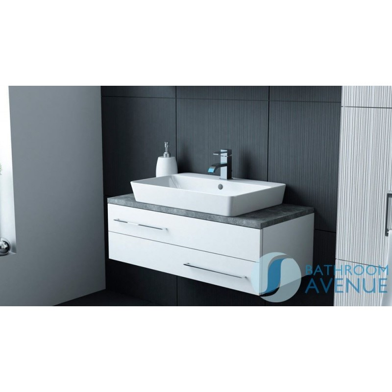 Modern Vanity Unit White Amp Counter Top Basin White Sink