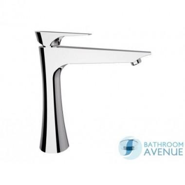 Designer counter top basin mixer tap tall Chrome Diva