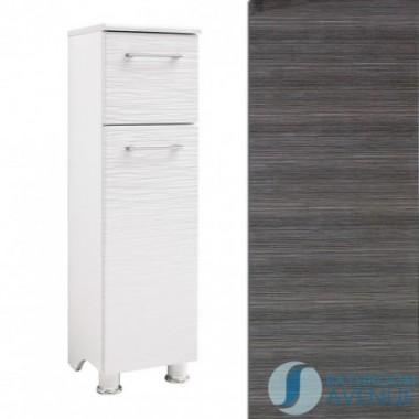 Freestanding Laundry Hamper Cabinet Graphite Tramonto