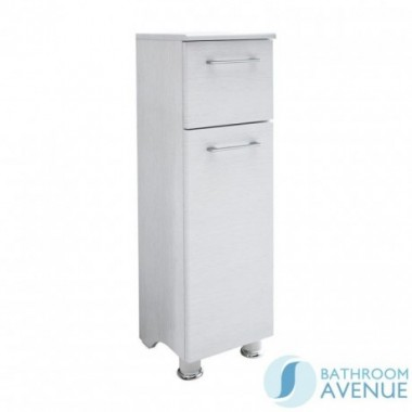 Freestanding Laundry Hamper Cabinet White Wood Tramonto