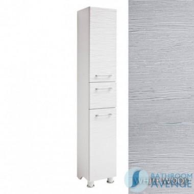 Laundry Hamper Tall Cabinet White Wood Tramonto