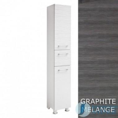 Laundry Hamper Tall Cabinet Graphite Tramonto
