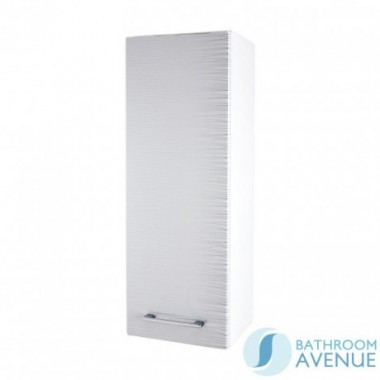 Wall Hung Small Cabinet White & Silver Stripes Tramonto