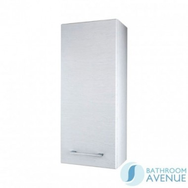 Wall Hung Small Cabinet White Wood Tramonto