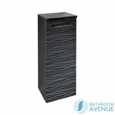 Wall Mounted Side Storage Cabinet Black & Silver Stripes Tramonto
