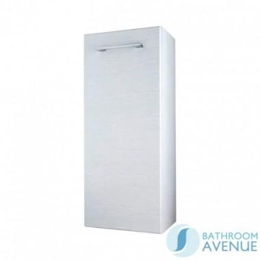Wall Mounted Side Storage Cabinet White Wood Tramonto