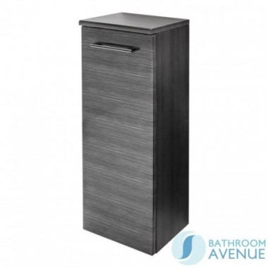 Wall Mounted Side Storage Cabinet Graphite Melange Tramonto
