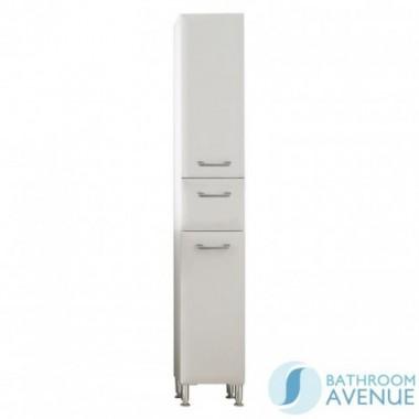 Bathroom Laundry Hamper Tall Cabinet Gloss White Bibiana