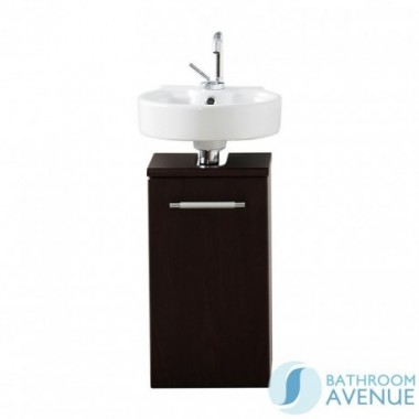 Cloakroom Compact Vanity Unit Wall Hung Wenge Marea