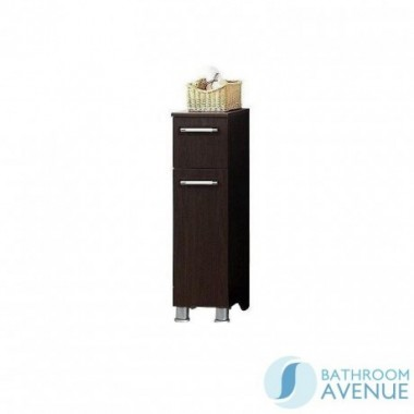 Bathroom Laundry Hamper Cabinet Wenge Marea